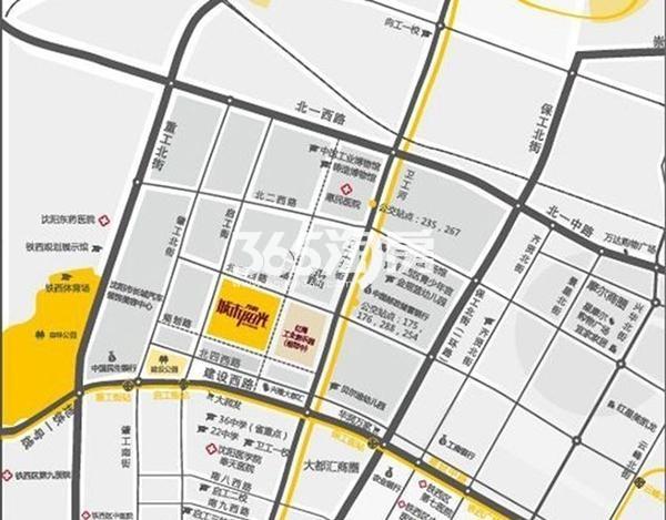 万科城市阳光交通图