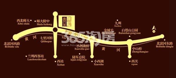 天庆山河一品交通图