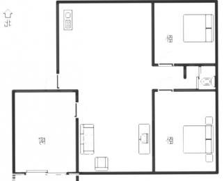 波尔卡国际3室2厅1卫107平方毛坯