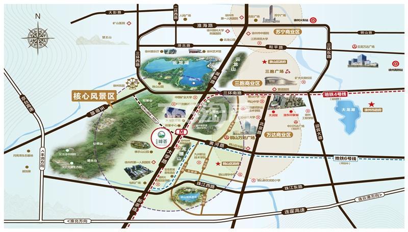 云龙湖峰荟交通图