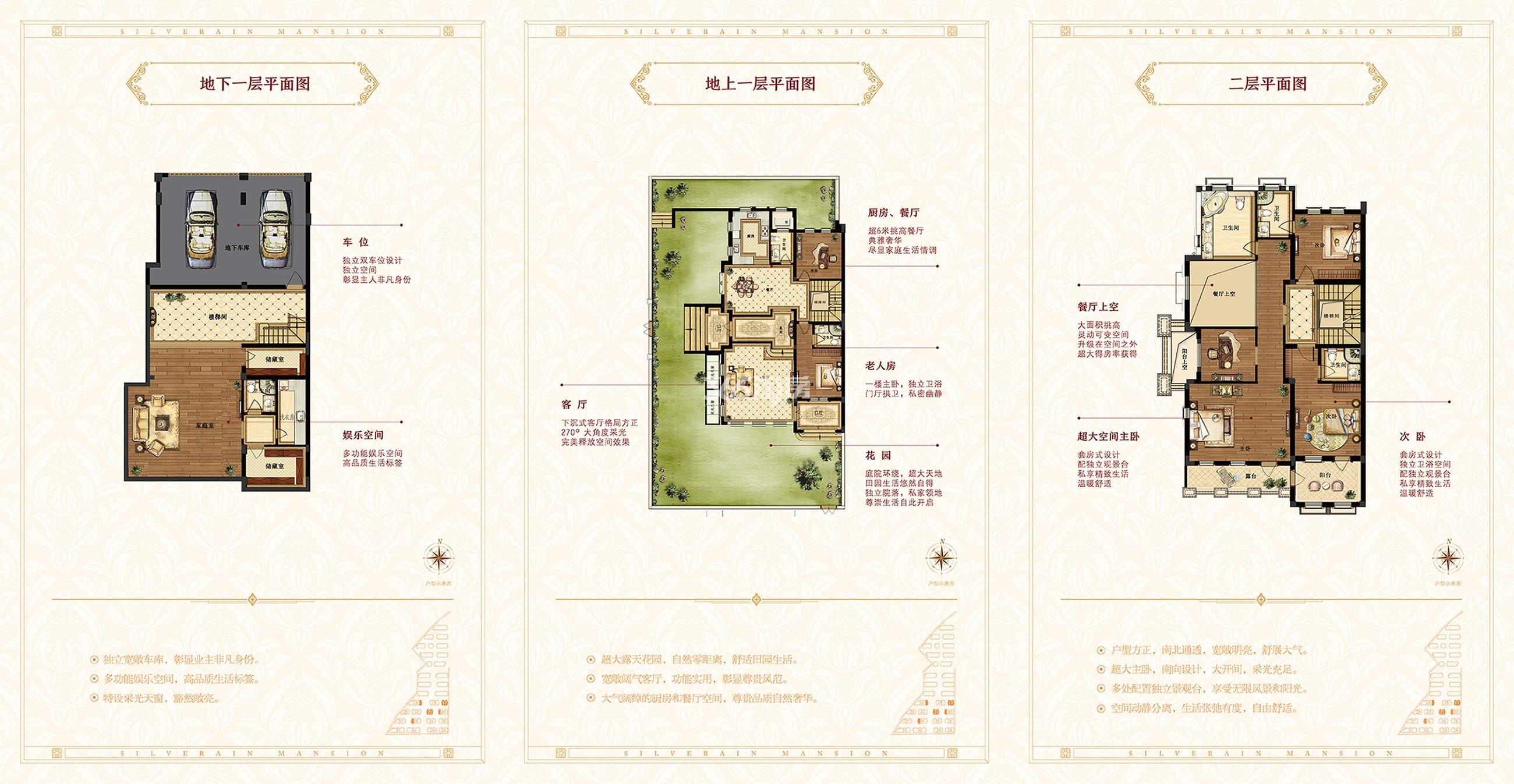 雨润星雨华府排屋410㎡户型图(P17、P21,P19东边套,P20、26西边套)
