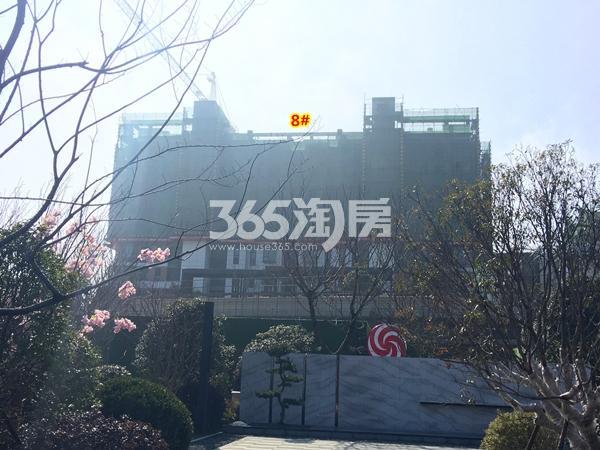 绿地天空树8#楼洋房工程进度实景(2018.2摄)