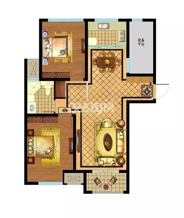 新华联梦想城95平2室2厅