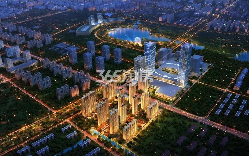 宝能城全新整体夜景鸟瞰图