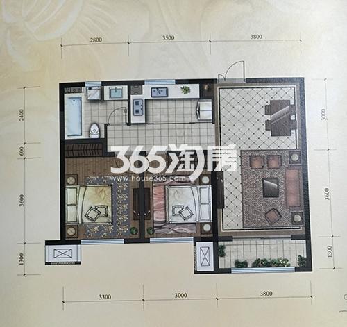 95平米 2室2厅1卫