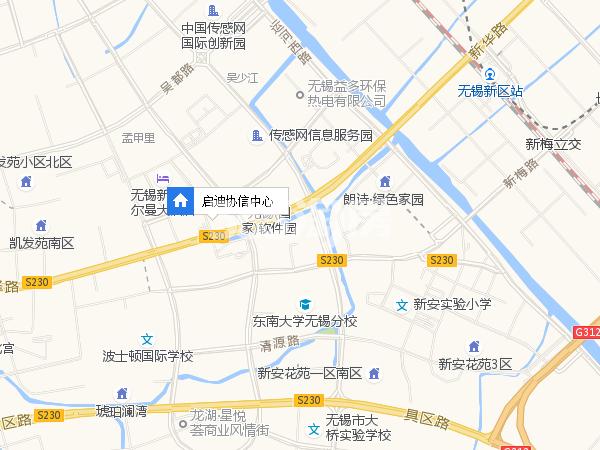 启迪协信中心交通图