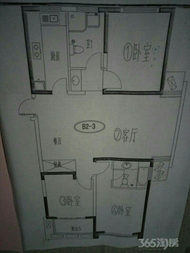 通江花园3室2厅2卫132平米整租简装