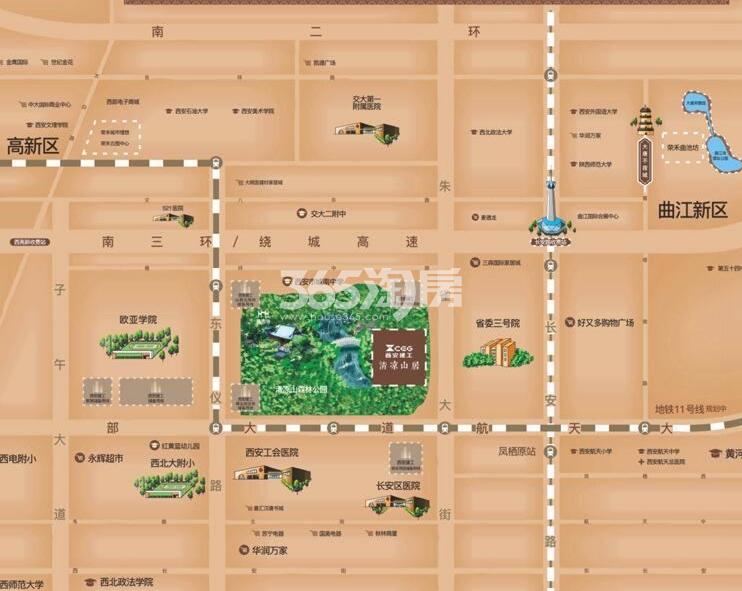 清凉山居交通图