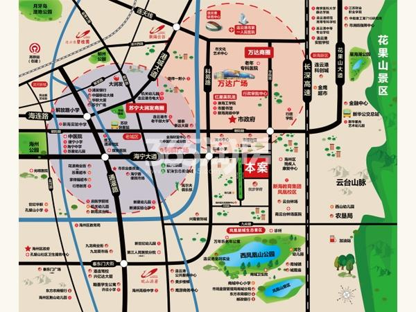 碧桂园凤凰源著交通图