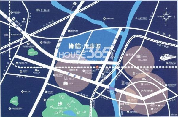 启迪协信无锡科技城(协信未来城)交通图