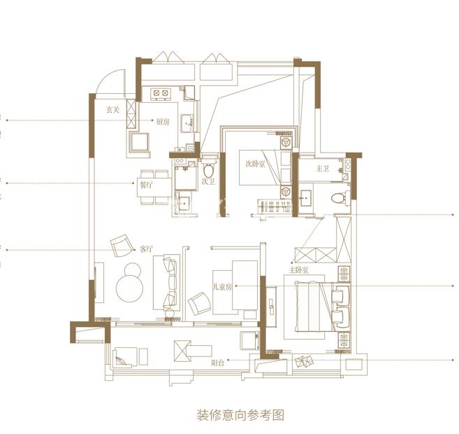 新城悦隽九里103㎡三室两厅两卫