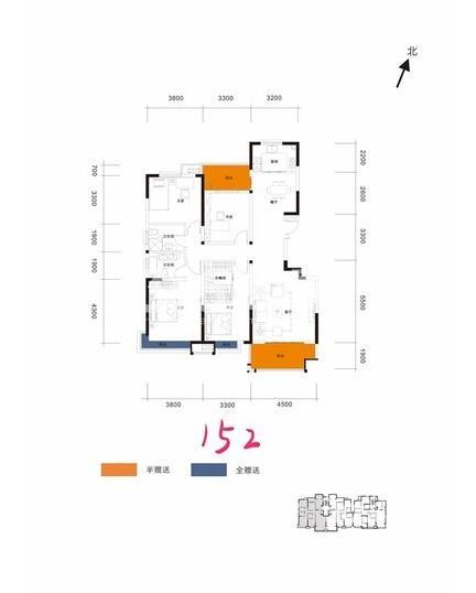 阳光城翡丽曲江洋房4室2厅2卫1厨152平户型