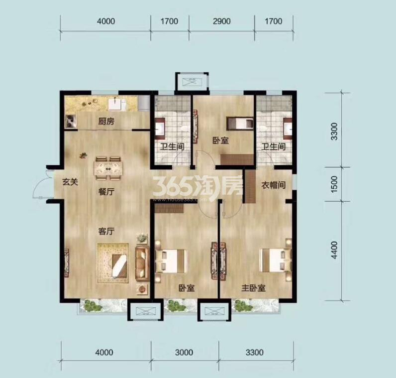 121平米三室两厅两卫