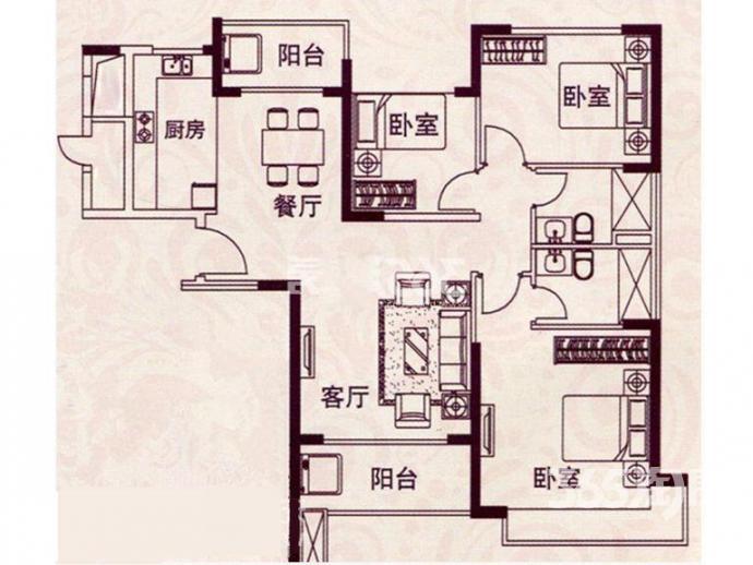 恒大绿洲景观位置黄金楼层117平豪华装房