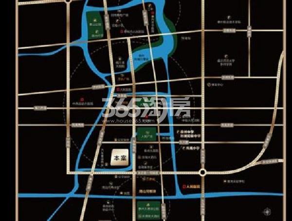 新城荣樾交通图