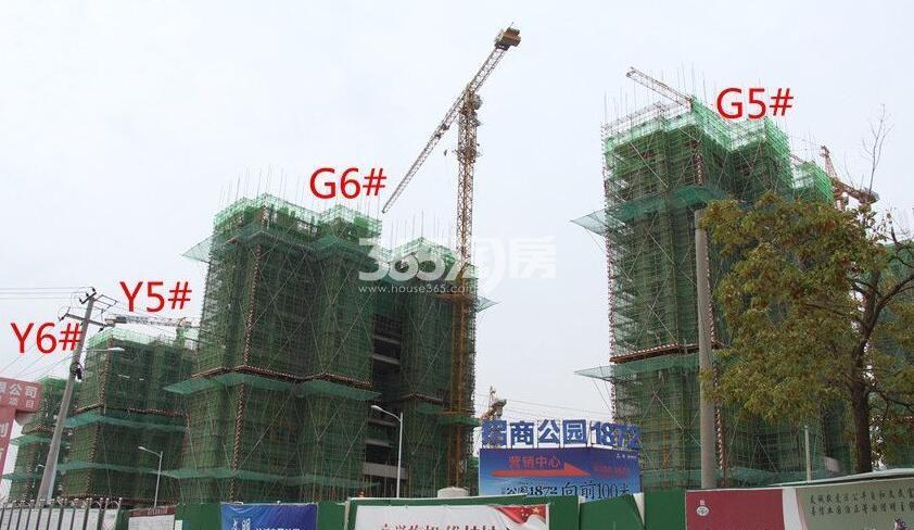 招商公园1872Y6#Y5#G6#G5#楼工程进度实景图(2018.4.16)