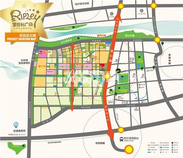 里普利广场交通图