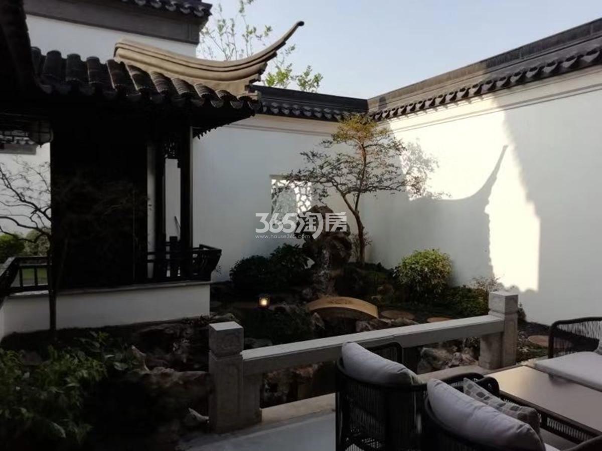 园博村桃李春风实景图