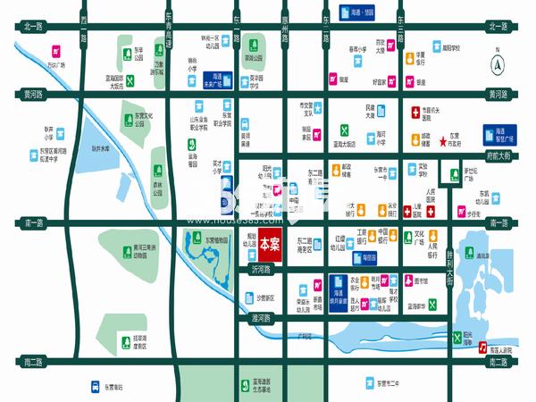 海通花语城交通图