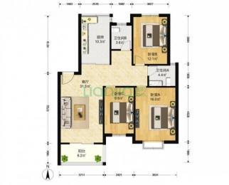 户型好位置好有地下室文鼎雅苑3室2厅2卫117平