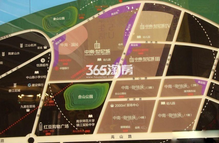 中南世纪城望江交通图