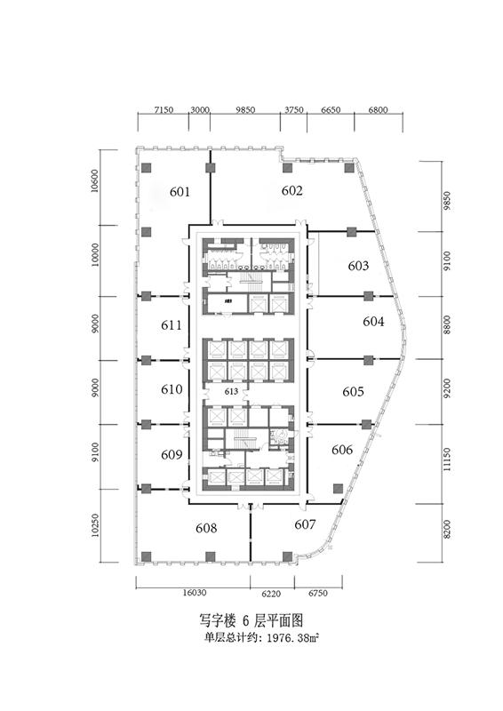 写字楼6层平面图