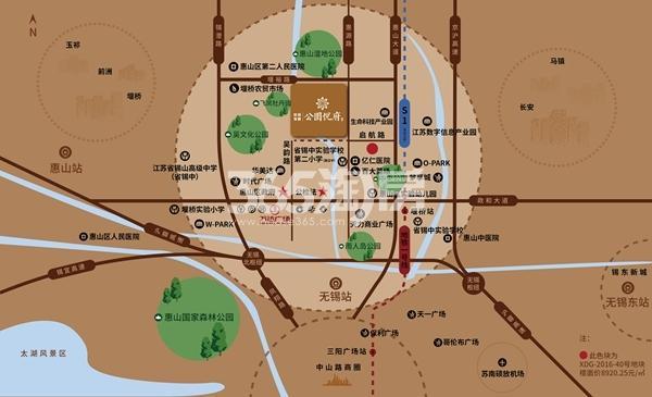 京投发展·无锡公园悦府交通图