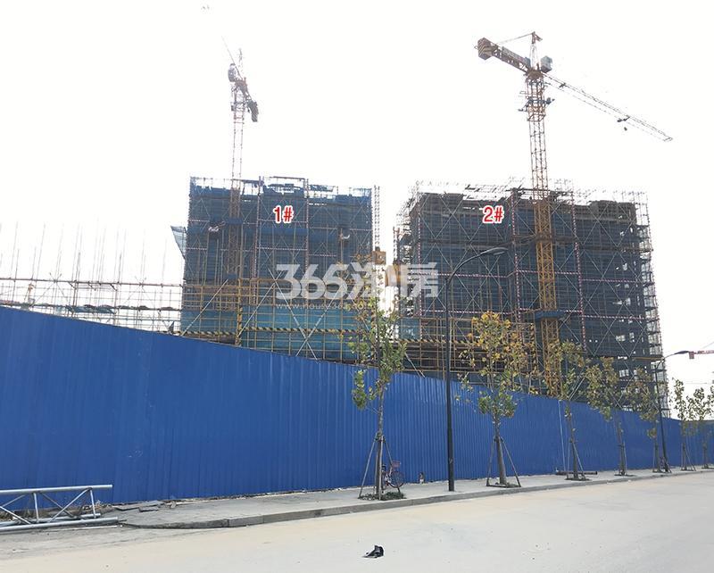 中国铁建西湖国际城1、2号楼实景图(2017.11)