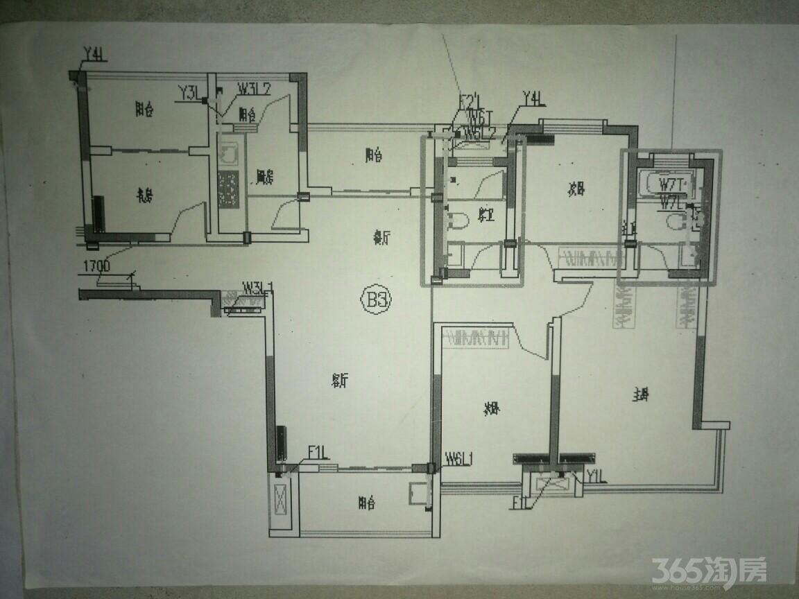 雅居乐林语城4室2厅2卫143平米2016年产权房毛坯