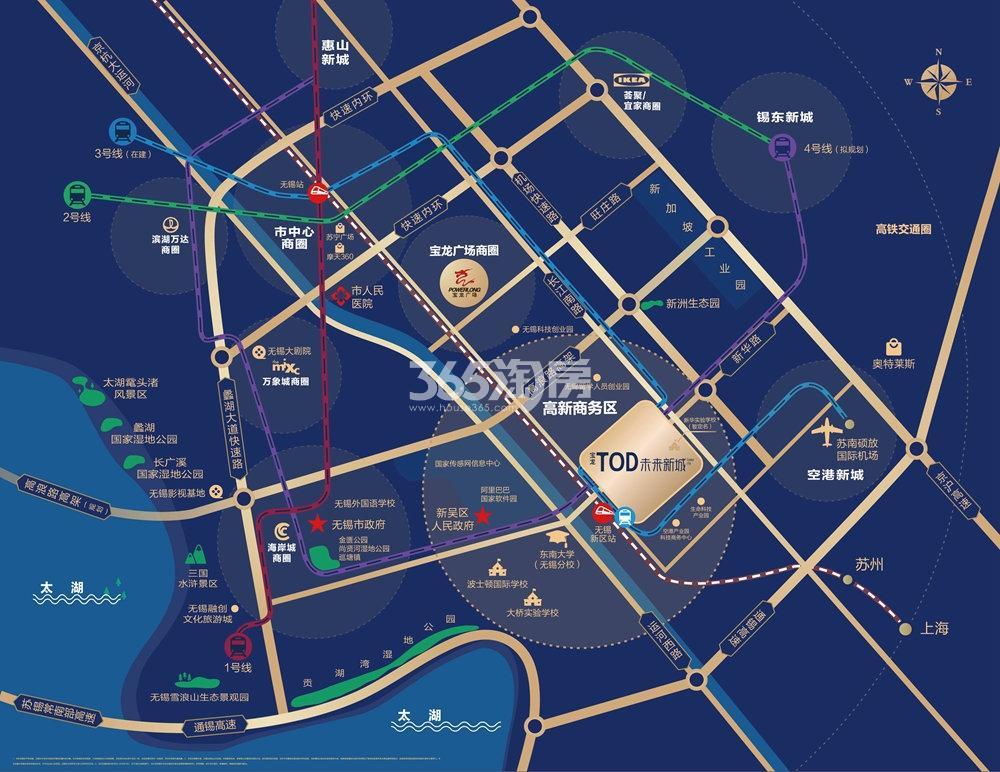 宝龙TOD未来新城交通图