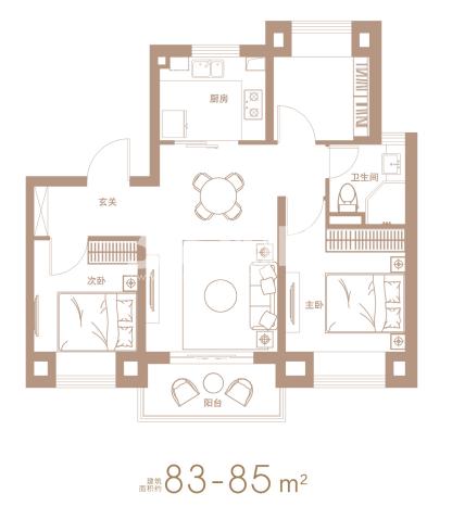 83-85㎡A户型