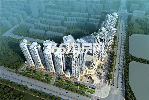 百乐门文化经贸广场鸟瞰图