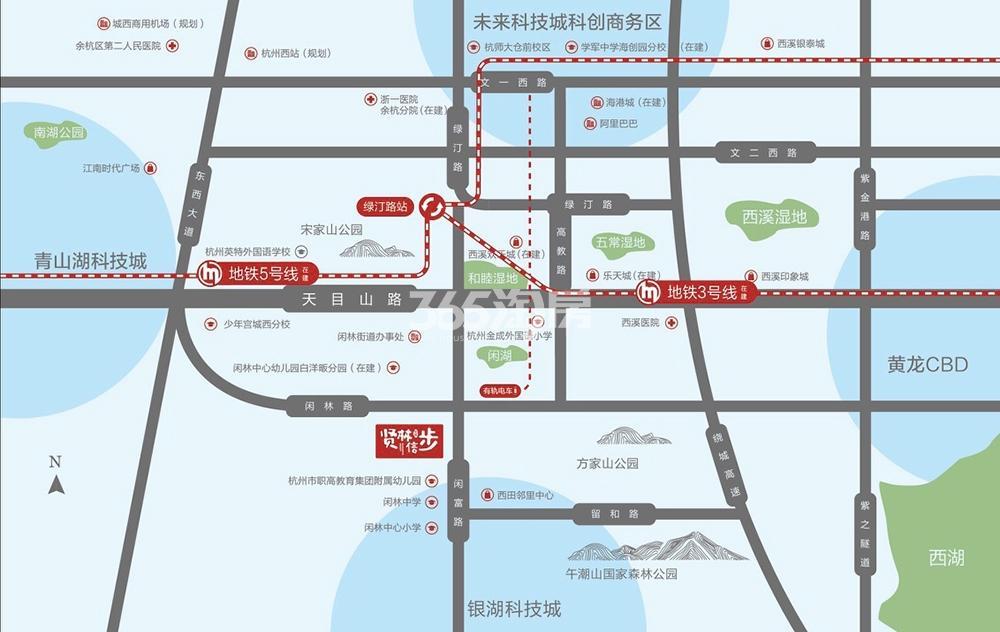 金辉贤林信步交通图