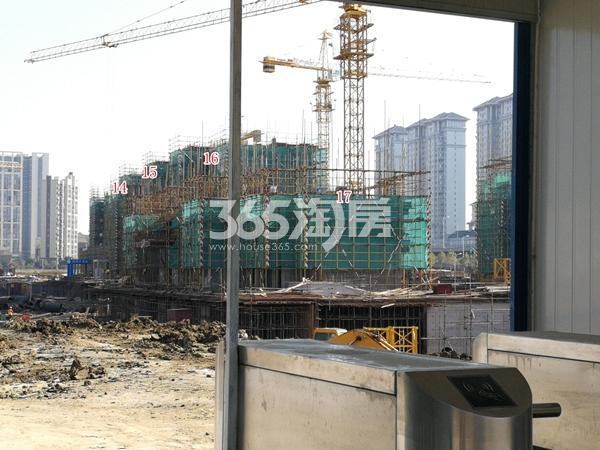 无锡中海寰宇天下14-16单元洋房、17单元高层工程进度(2017.11)