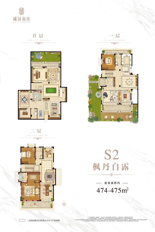 诚园南区(帝景天誉)S2户型图474-475㎡