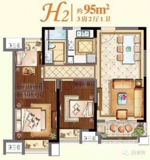 吴中区保利悦玺3室2厅1卫95�O