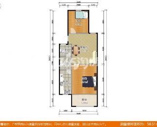 恒盛嘉园1期2室1厅1卫67平米精装产权房2008年建