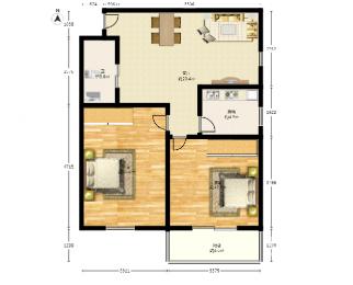 鼓楼三条巷小区2室1厅1卫67平米1992年产权房精装