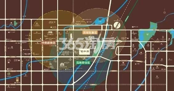 建业世和府交通图