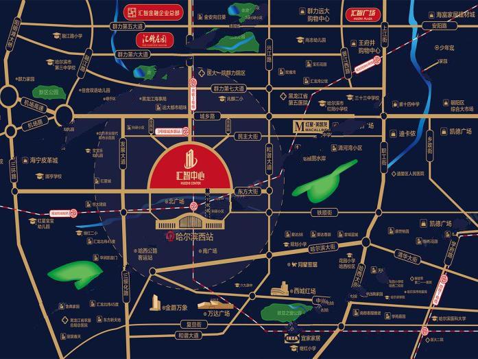 汇智中心交通图
