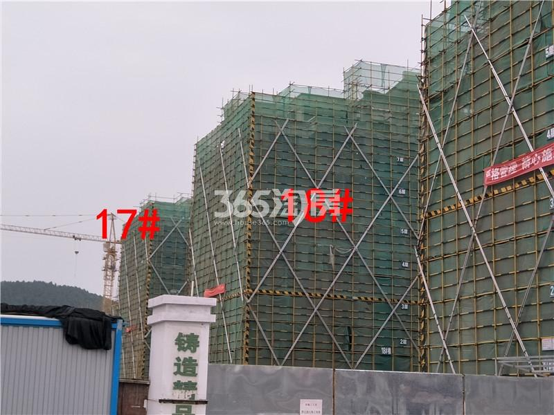 绿地理想城悦湖公馆在建17、18#楼实景图(4.4)