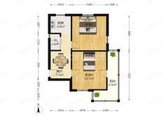 丁家桥小区2室1厅1卫168万元56.44平方