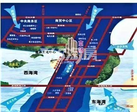 泛宇惠港新城交通图