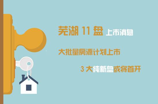 芜湖楼市11盘大批量房源计划上市,3大纯新盘或将首开