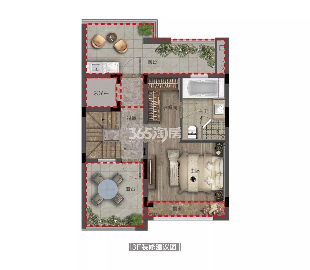 奥克斯金宸玖和府排屋165方(三楼)