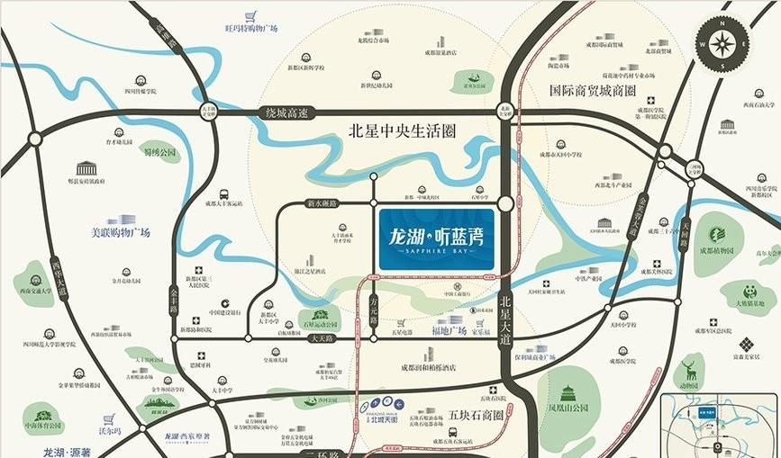 龙湖听蓝湾交通图