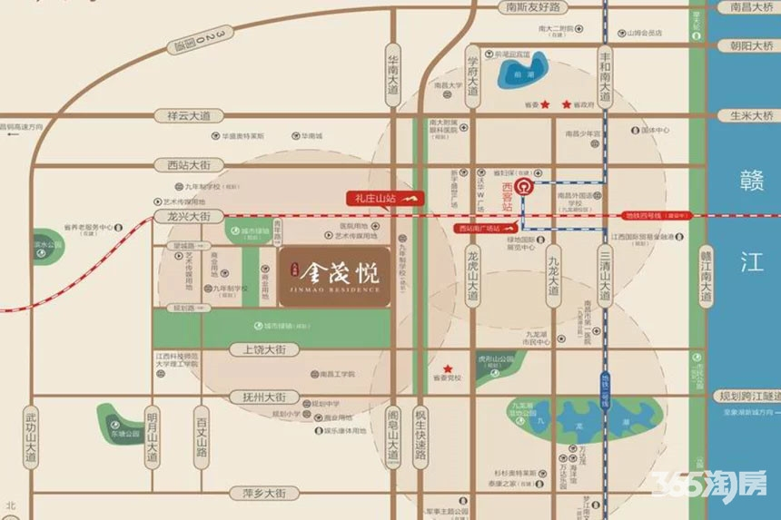 九龙湖金茂悦交通图