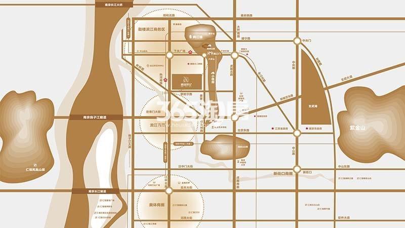 桃园世纪区位图
