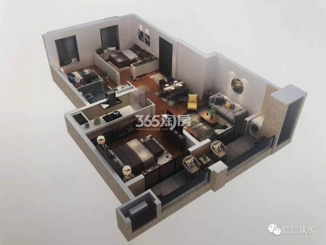 金轮水映华庭88㎡3室2厅1卫户型图