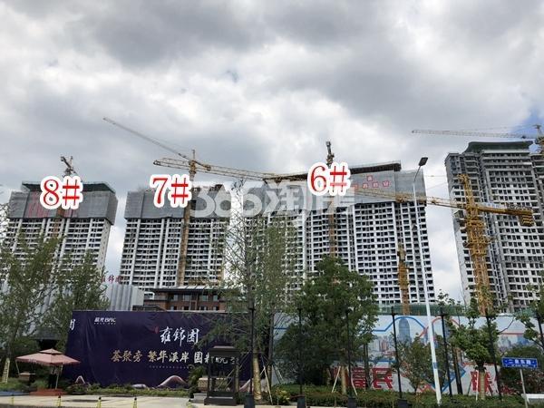 蓝光雍锦园高层6-8#楼实景图(2018.9 摄)